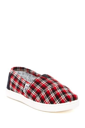 Classic Plaid Slip-On Shoe (Little Kid & Big Kid) by TOMS $9 (reg$38) #steal #bargainshoes