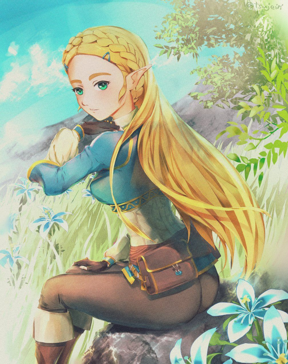 Zelda By Tsujieiri Legend Of Zelda Pinterest Zelda Princesse
