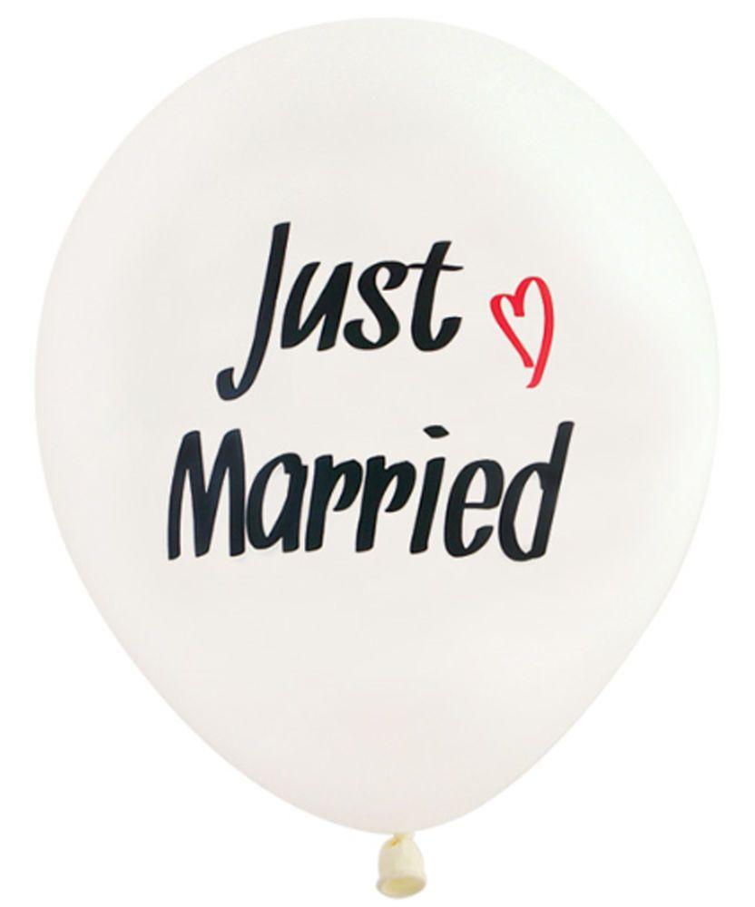 Wedding car decorations just married  XLatex White balloon Just Married Heart Wedding car Decorations
