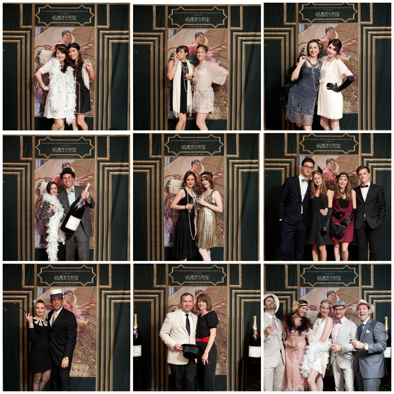 wedding reception photo booth singapore%0A Gatsby photo booth props  strands of pearls  mustaches on stick  feather  boas