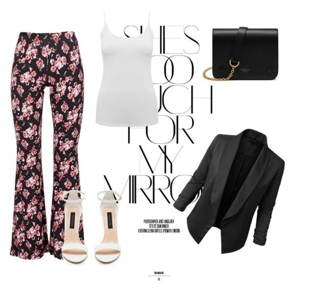 """#shestomuchformymirror"" by jeania-mary-young on Polyvore featuring Rika, Black Coral, M&Co, Mulberry and LE3NO"