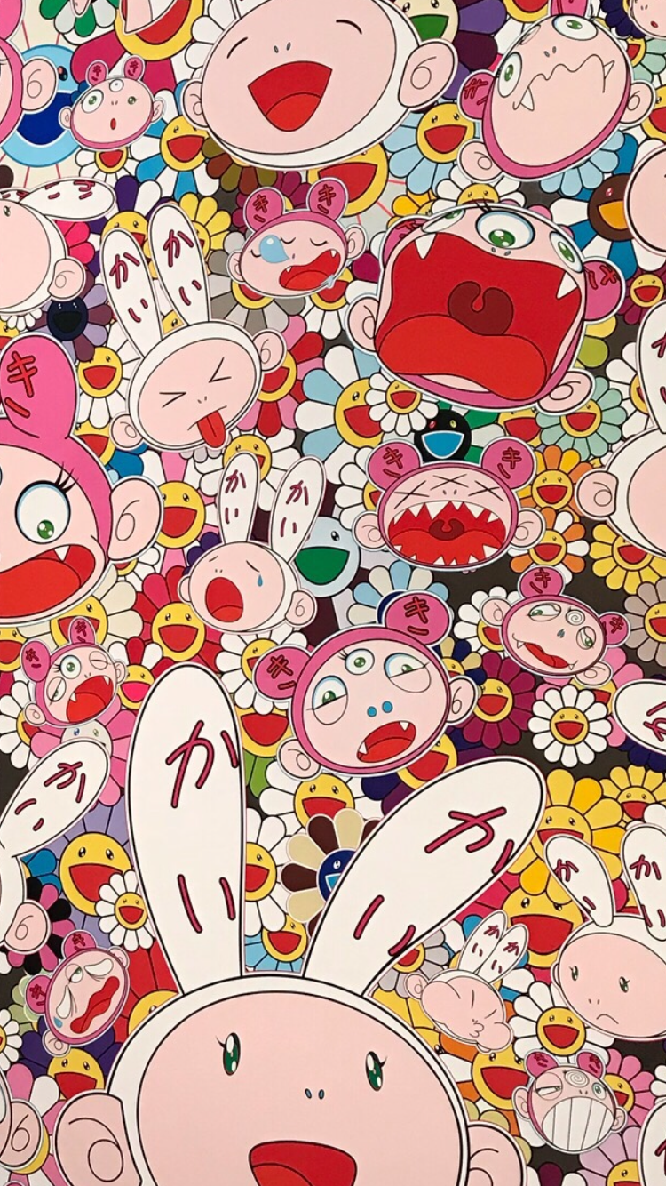 Takashi Murakami Takashi murakami art, Iphone wallpaper