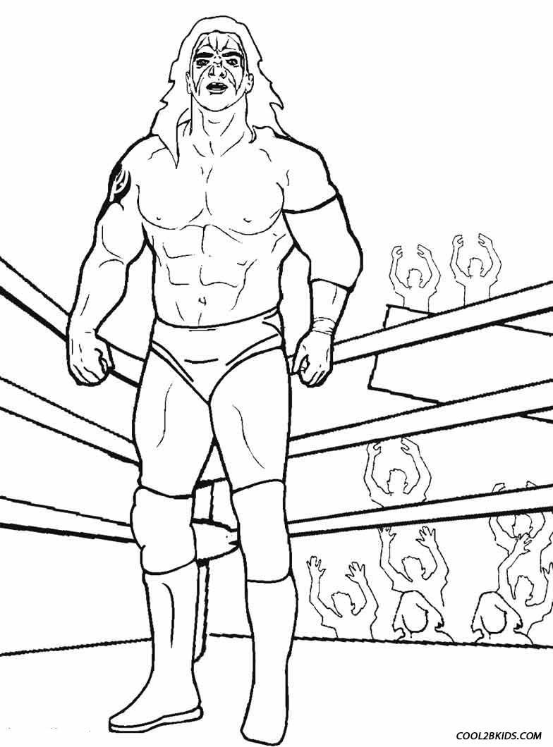 Printable Wrestling Coloring Pages For Kids Cool2bkids Coloring Pages Sports Coloring Pages Wwe Coloring Pages