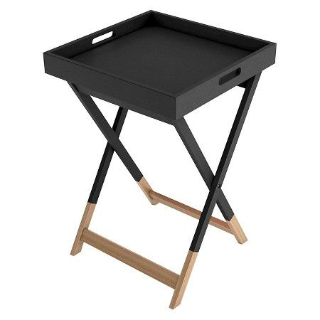 Marvelous Wood Tray Side Table   Urb SPACE