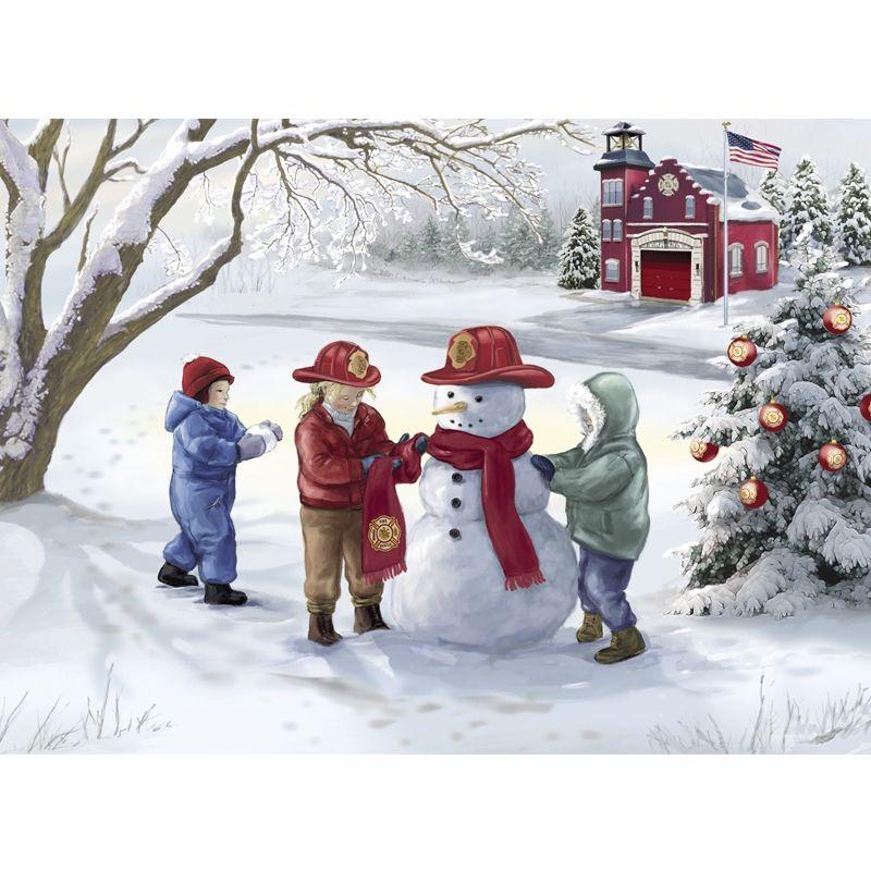 Firefighter Christmas Cards | color book art | Pinterest | Christmas ...