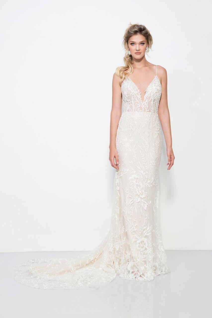 Boho wedding dress lace beach wedding gown bohowedding