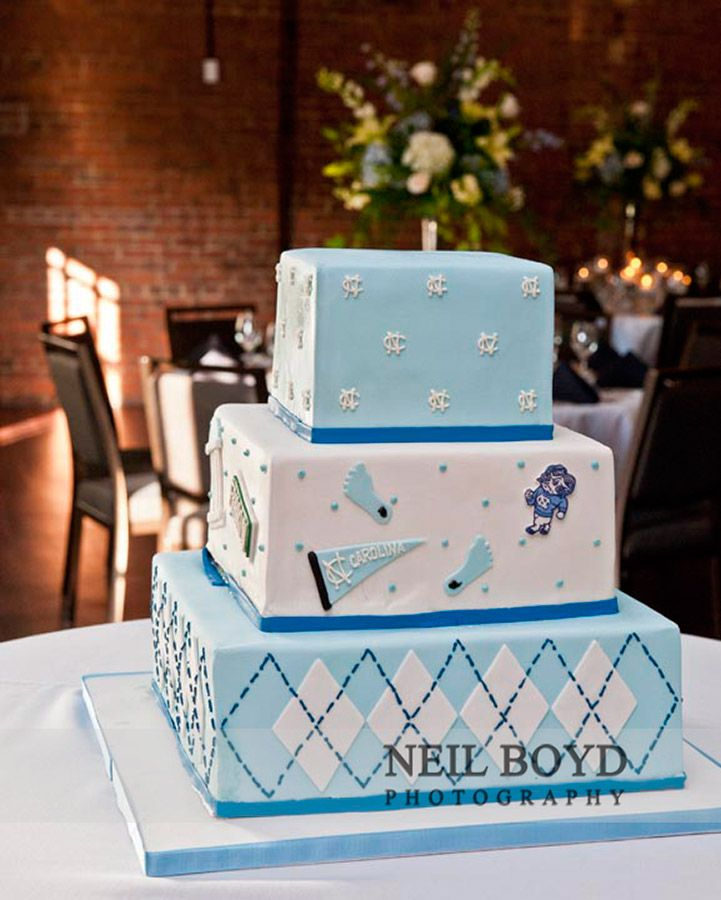 UNC grooms cake for wedding rehearsal dinner Sugarland Bakery