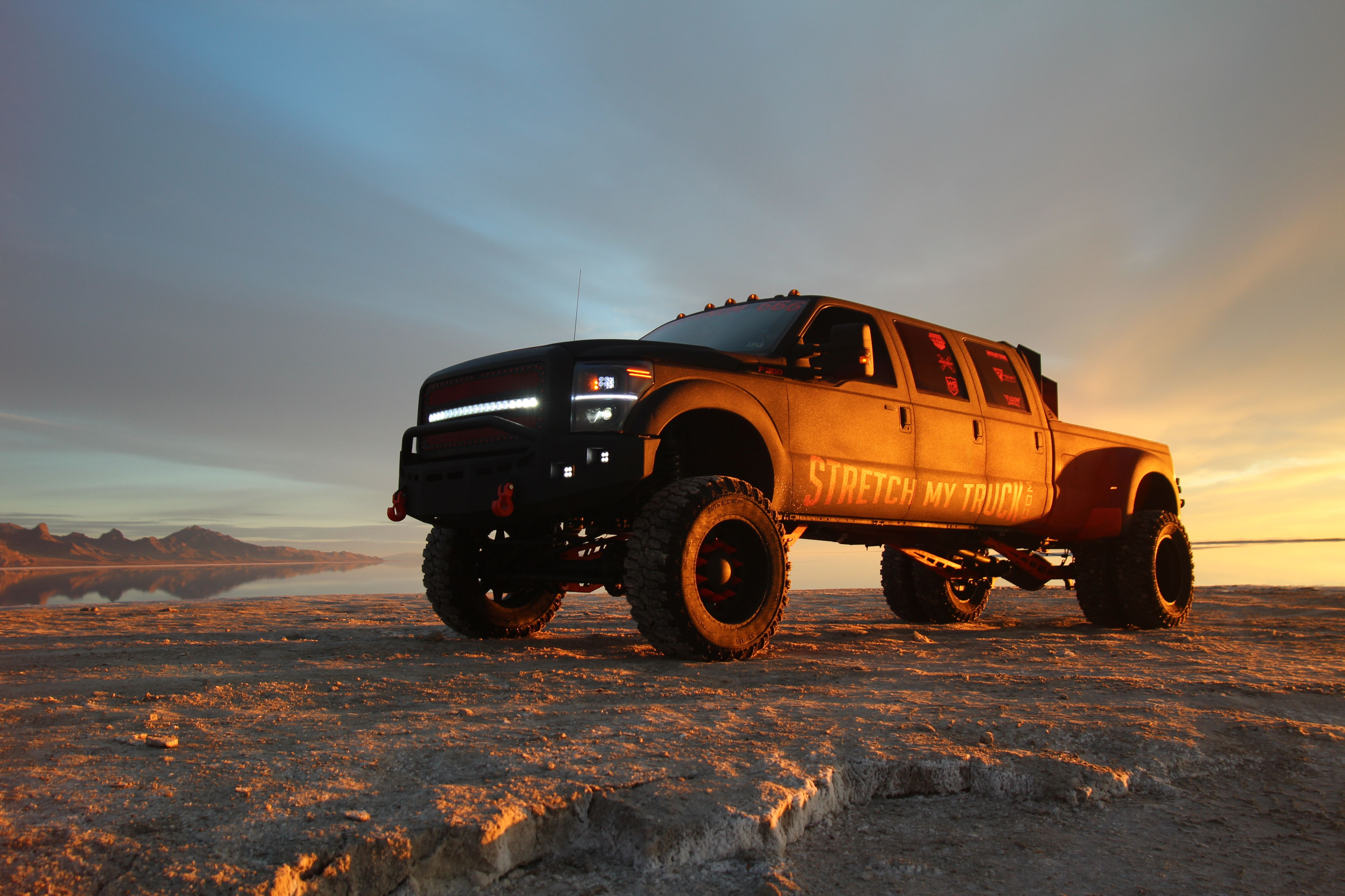 small resolution of ford f350 platinum 6 door platinum 666 at sunrise at the salt flats