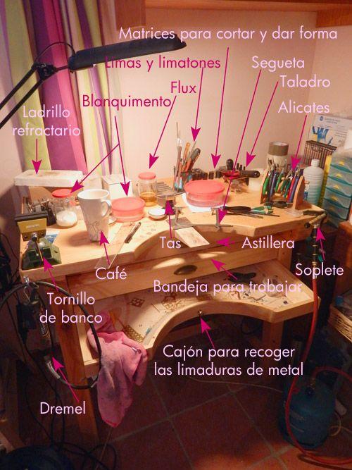 Mi mesa de joyero en el taller blog el taller - Mesa de taller ...
