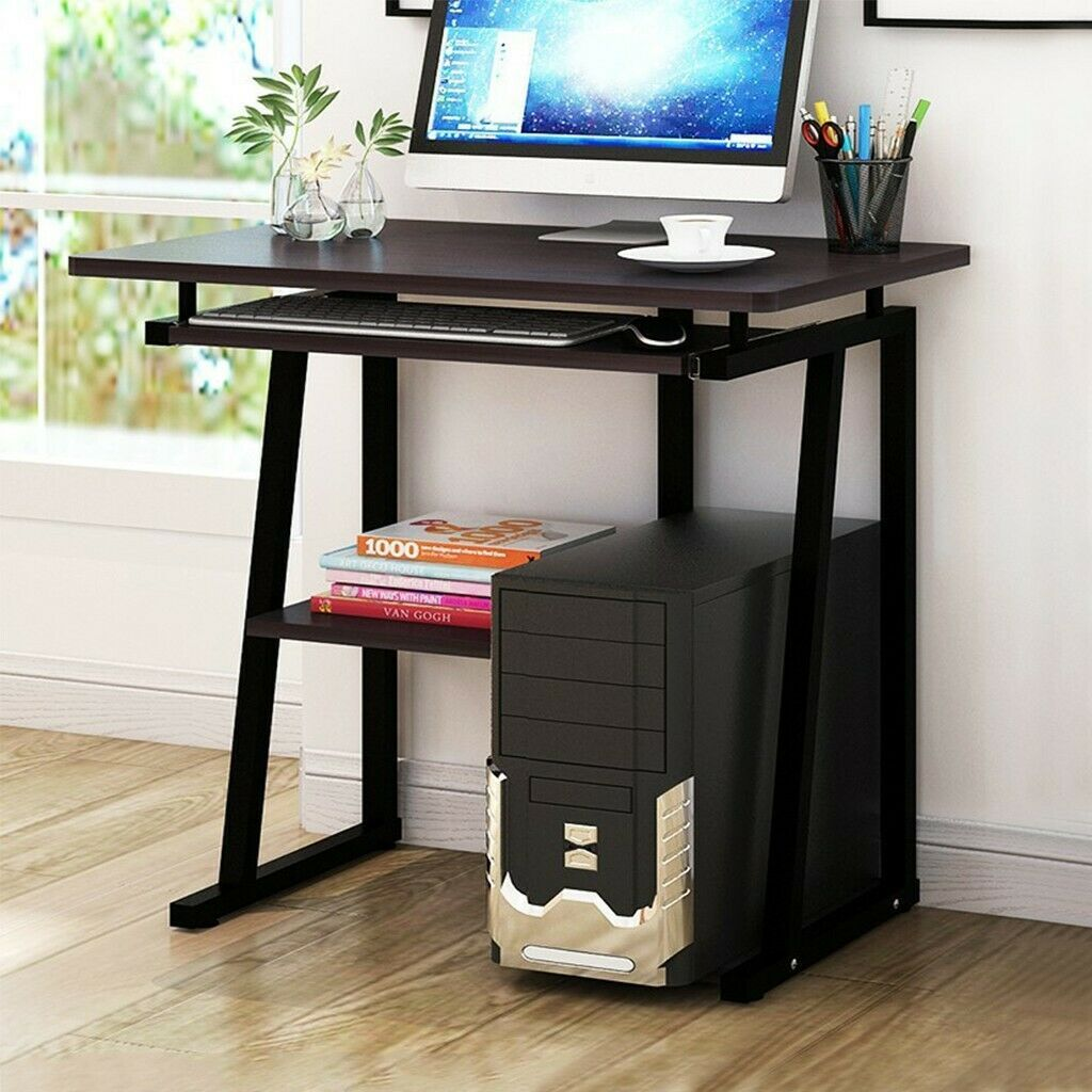 Computer Desk PC Laptop Table Study Workstation Wood Home