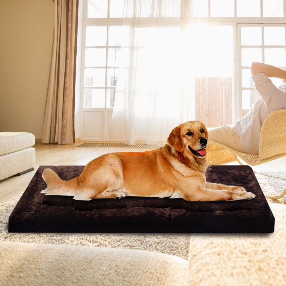 Large Fleece Pet Pad Dog Cat Puppy Bed Mat Kennel Cushion