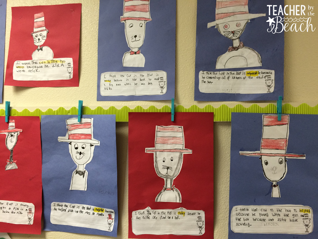 Cat In The Hat Directed Drawing And Character Trait Writing Cat In The Hat Directed Drawing Dr Seuss Crafts Seuss Crafts