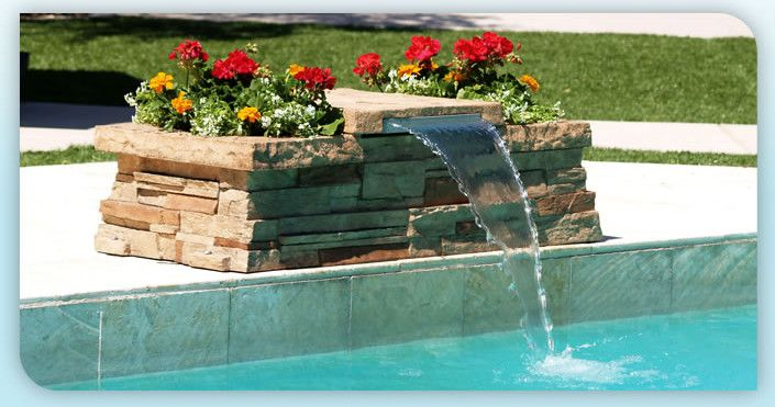 Diy Pool Waterfall Pool Waterfall Landscaping Pool Waterfall