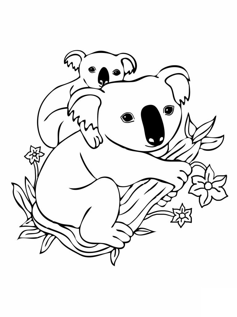 awesome Baby and Mother Koala Free Coloring Pages | Colouring Pages ...