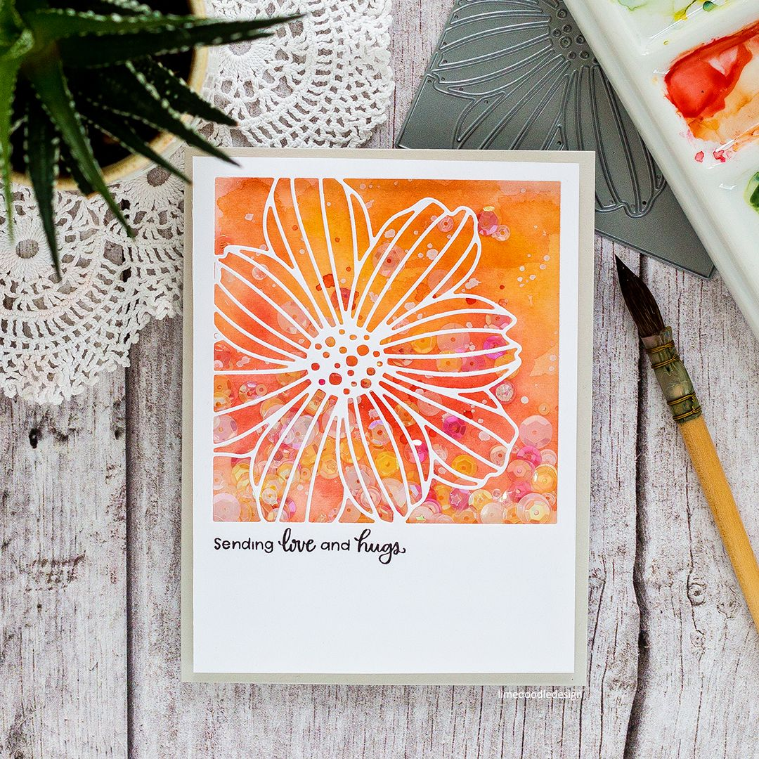 Fun flower handmade cards by Debby Hughes using the fun new Flower Frame dies from Simon Says Stamp.