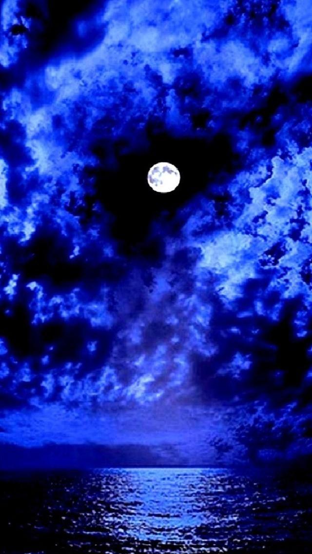 Hd Purple Mountain Blue Aesthetic Beautiful Moon Wallpaper Backgrounds