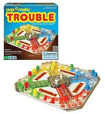 awesome NEW Classic Trouble Kids Family Fun Board Game Toy Gift FREE SHIPPING Christmas - For Sale