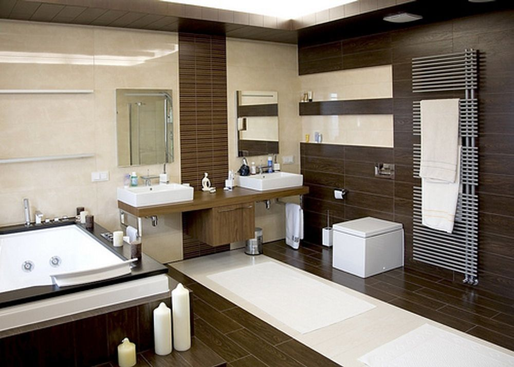 Modern Bathroom Design Ideas Trends 2014 With Bathtub And Wood
