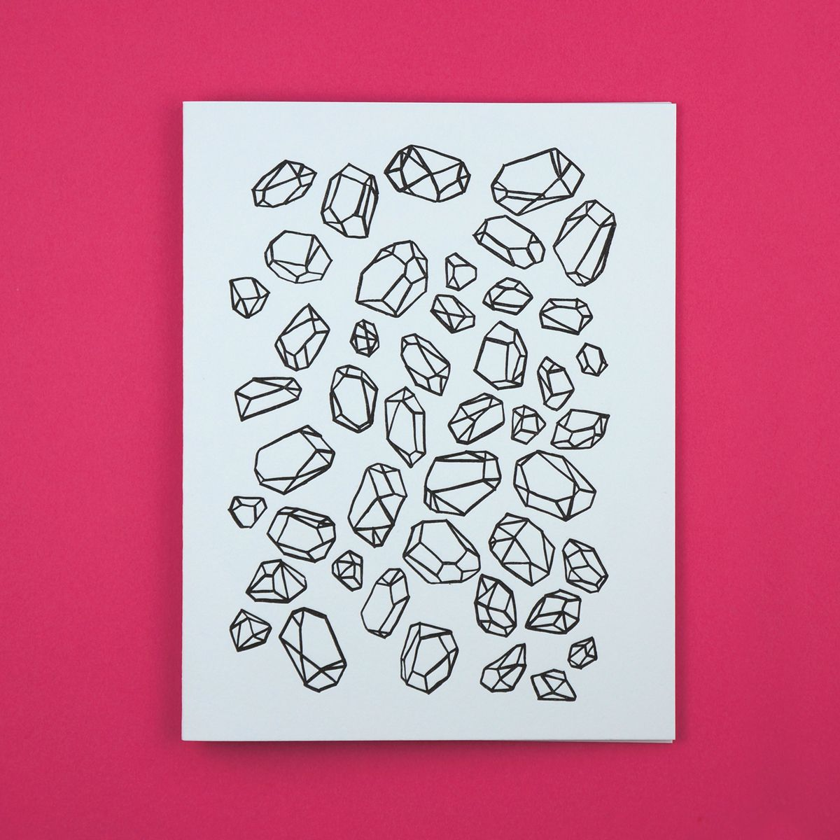 Illustrated gemstone pattern in a letterpress printed greeting card illustrated gemstone pattern in a letterpress printed greeting card kristyandbryce Images