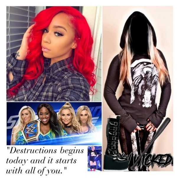 """Smackdown Live: Rise and Fall"" by digital-minerva ❤ liked on Polyvore featuring Demonia, Elisabeth Weinstock and WWE"