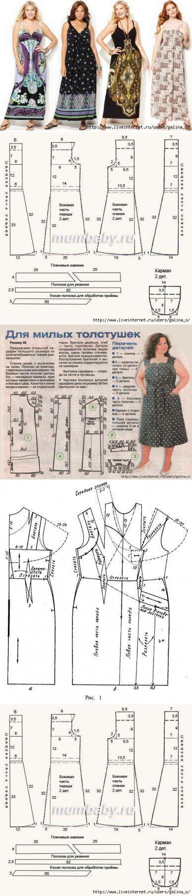 вязание-шитьё | Patrones, Coser y Vestidos cruzados