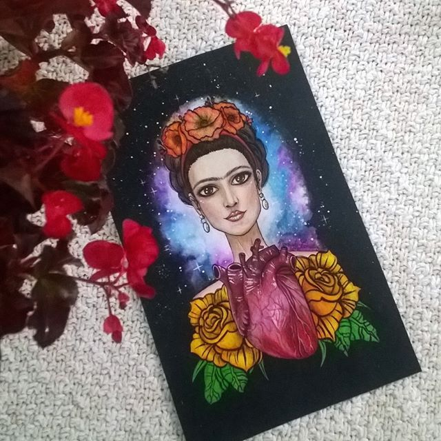 #Dibujo de #Frida #Kahlo terminado 😍, #SpeedDrawing disponible en mi canal de #Youtube http://www.youtube.com/watch?v=GlSE8S2qbdY&sns=em   #art #arte #draw #drawing #paint #painting #illustration #ilustración #color #colorpencil #colors #artwork #fridakahlo #Fridaart #Fridaarte #kahloart #kahloarte #fridalahloart #fridakahliarte #art_4share #young_artists_help