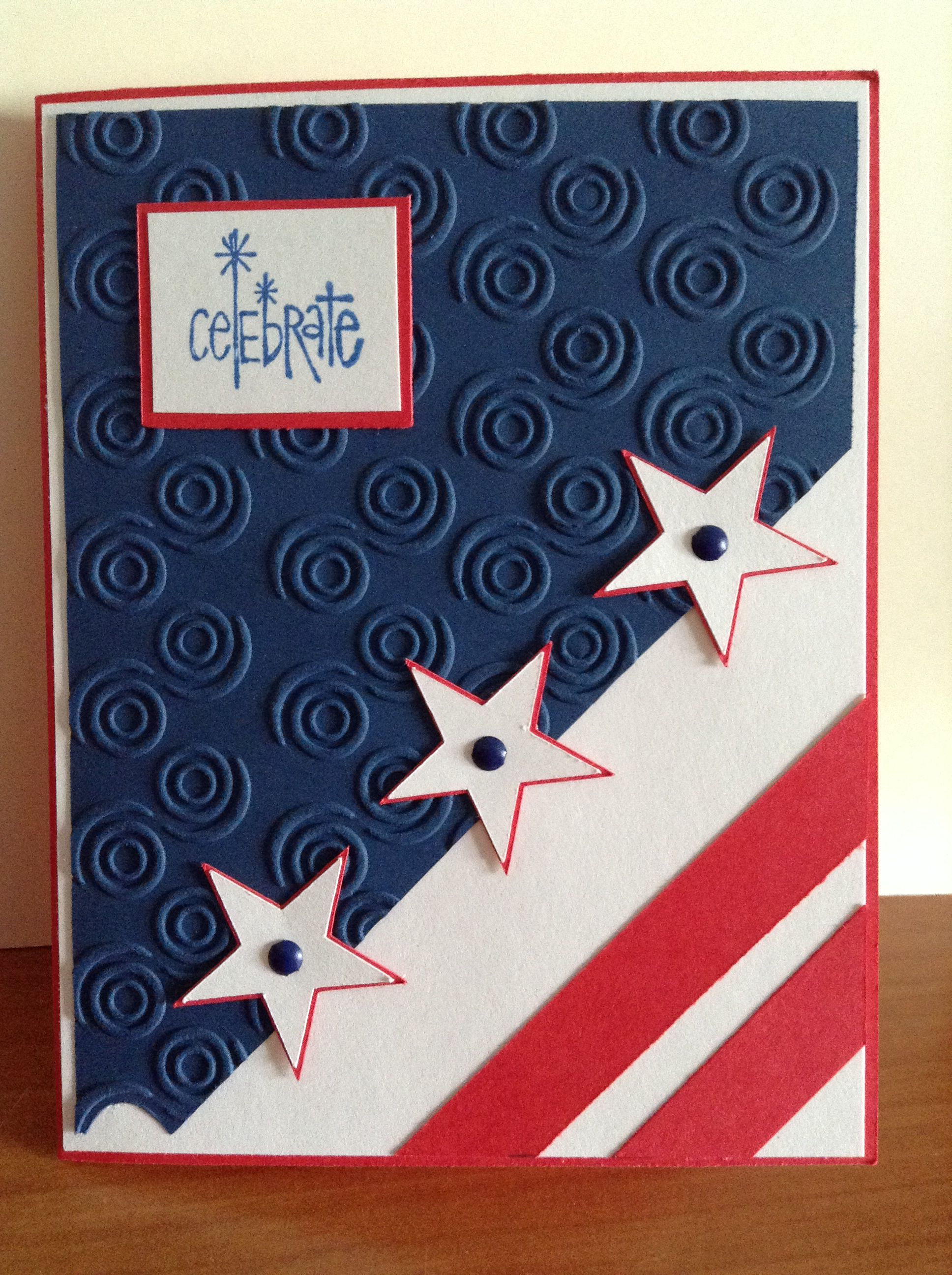 4th Of July Card With Images Greeting Cards Handmade Cards