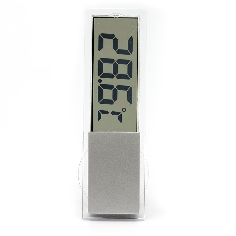 Refaxi New LCD Digital Thermometer Car Windshield Rear View Mirror Temperature Meter