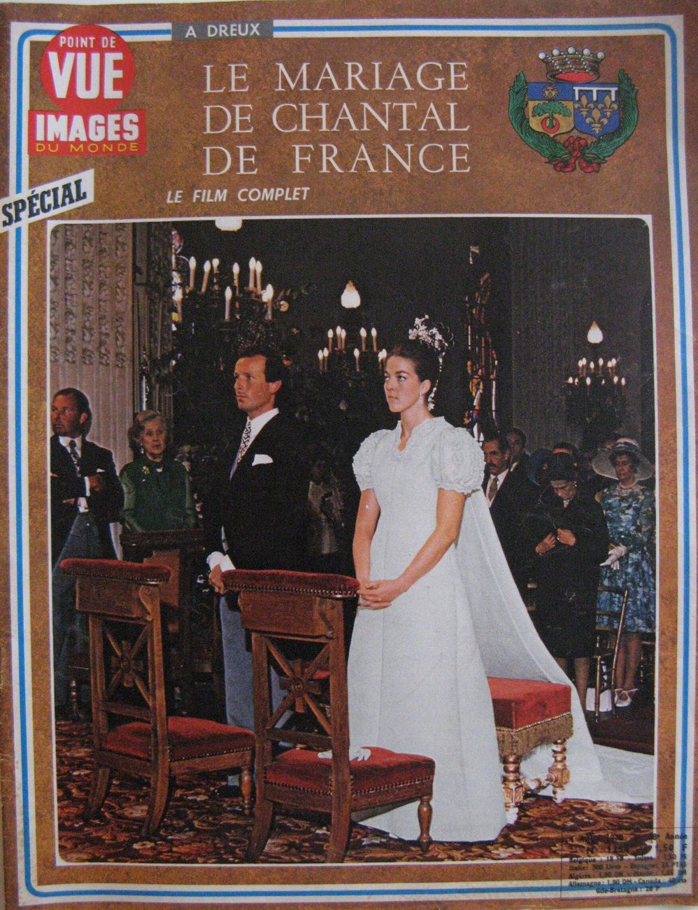 n 1254 4 ao t 1972 mariage de la princesse chantal d 39 orl ans et du baron fran ois xavier de. Black Bedroom Furniture Sets. Home Design Ideas