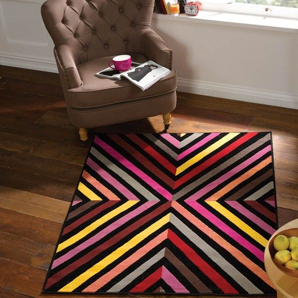 The Quadrant Rugs from the Retro Funky collection boasts a design ...