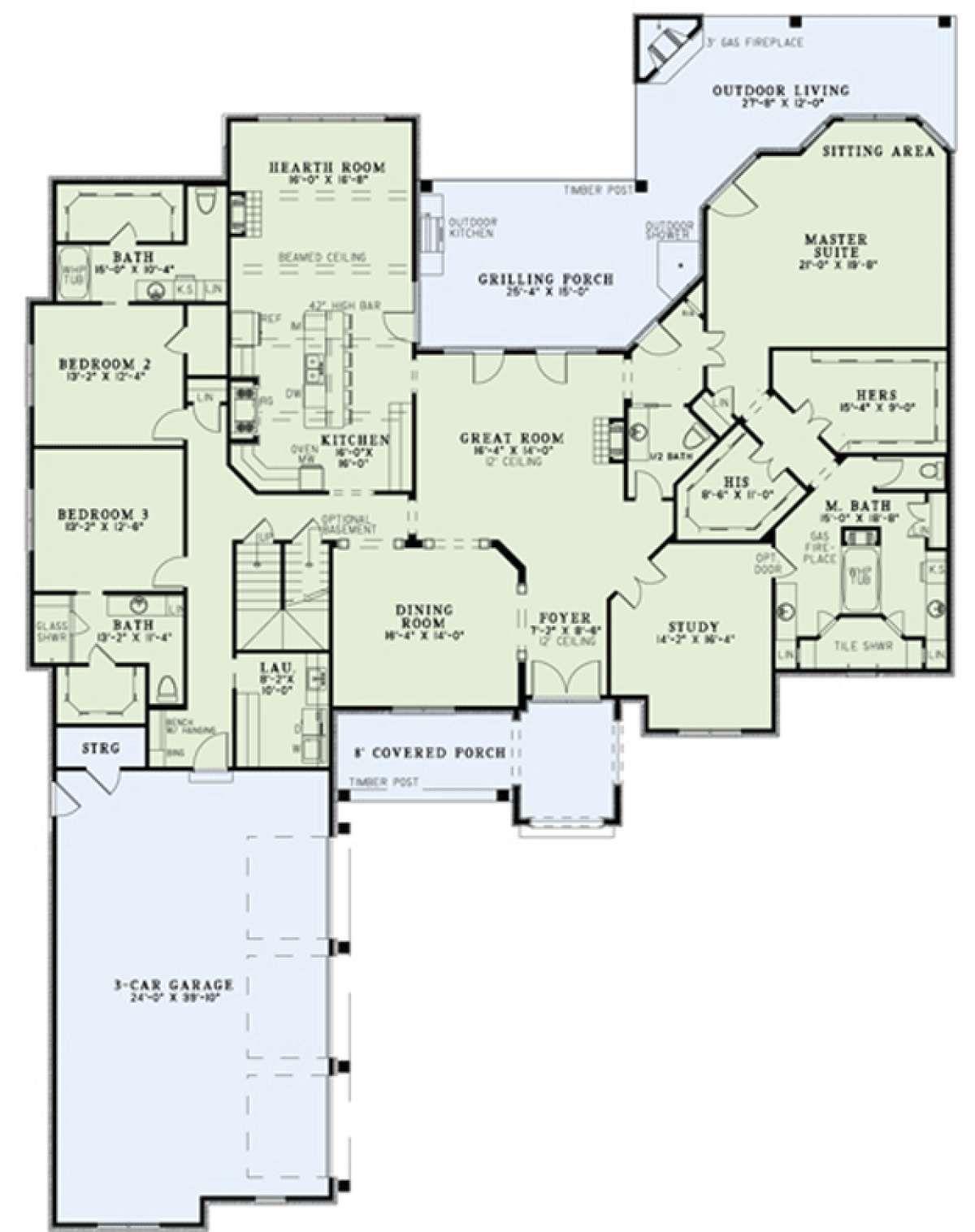 House Plan 110 00894 Luxury Plan 4 215 Square Feet Luxury House Plans House Plans And More House Layouts