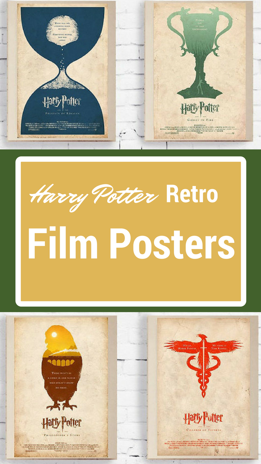 These retro Harry potter movie posters are very cool! I could even ...