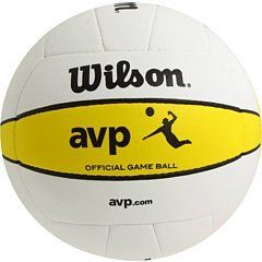 Wilson Official Avp Outdoor Game Volleyball By Wilson 44 36 The Wilson Official Avp Game Volleyball Is A Top O Volleyball Equipment Volleyball Outdoor Games