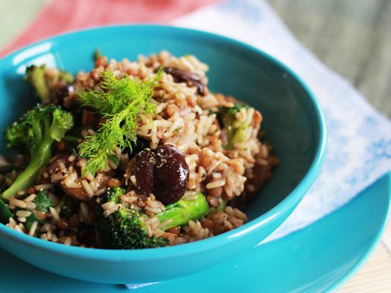Ginger Fig: wild rice with fennel, lentils & broccoli