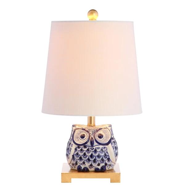 Blue Whimsical Owl Table Lamp Owl Table Lamp Mini Table Lamps Table Lamp