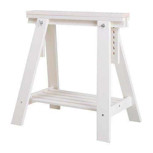 Tischbock Höhenverstellbar finnvard tischbock mit ablage weiß tischbock ablage und ikea