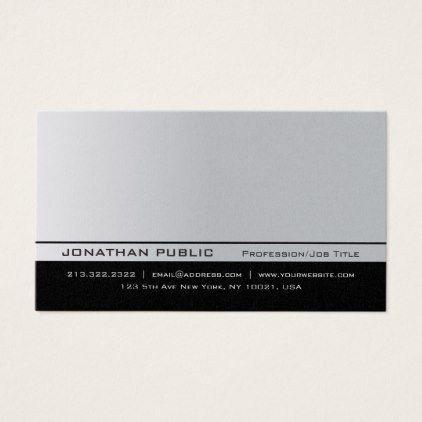 Modern elegant silver premium pearl finish luxury business card reheart Images