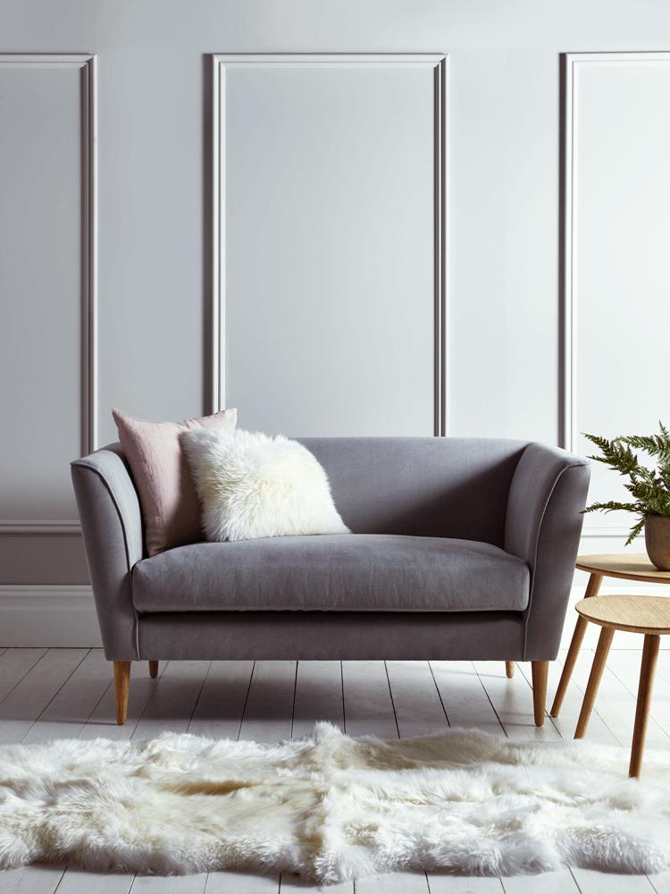 NEW Timsbury Cotton Weave Sofa Grey Decoración para