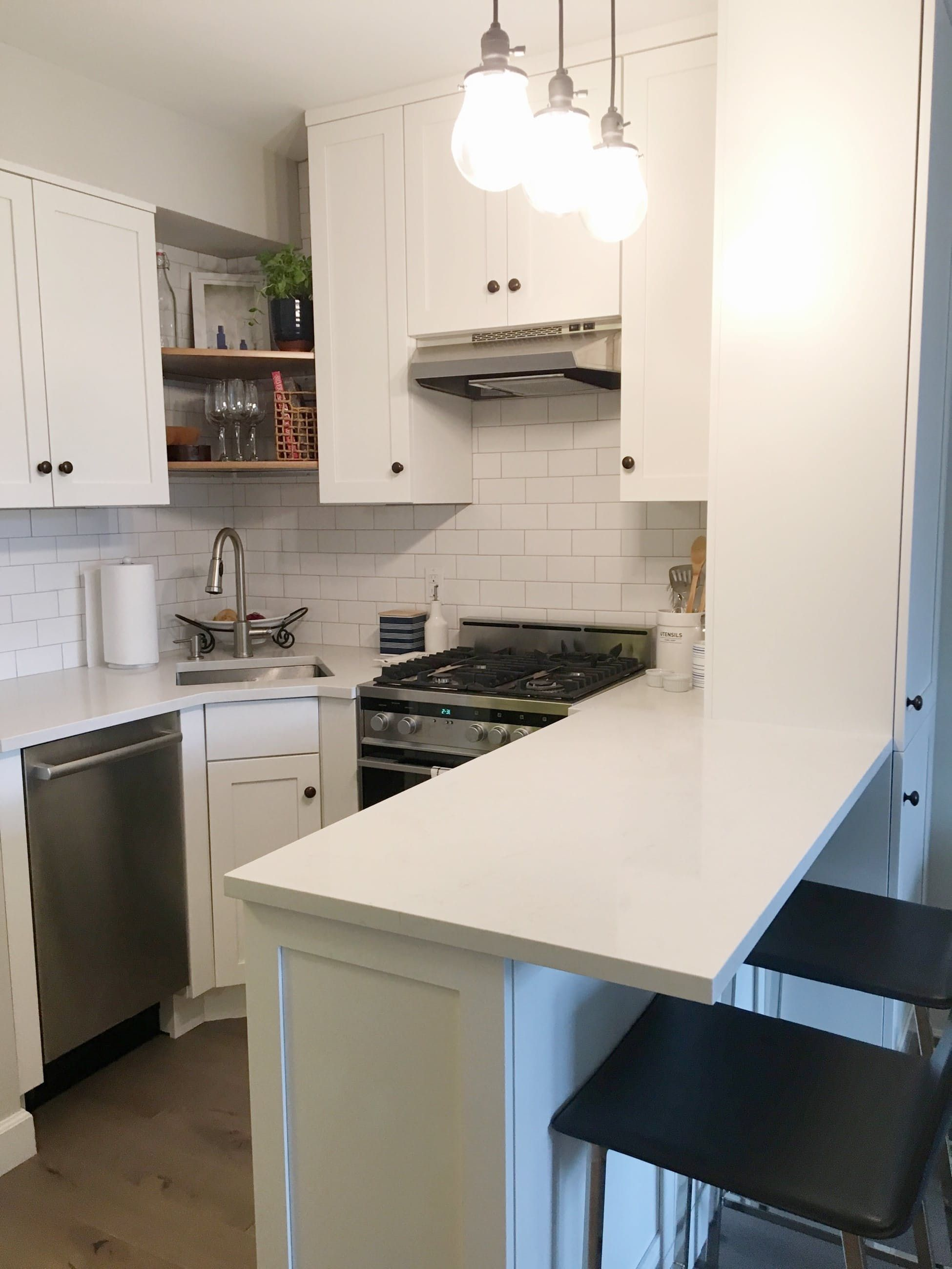 From gut to gorgeous a complete studio apartment makeover Studio apartment kitchen