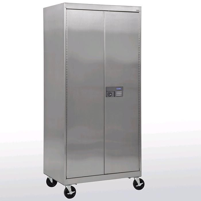office supplies metal cabinet on wheels stainless steel mobile storage cabinet by sandusky lee. Black Bedroom Furniture Sets. Home Design Ideas