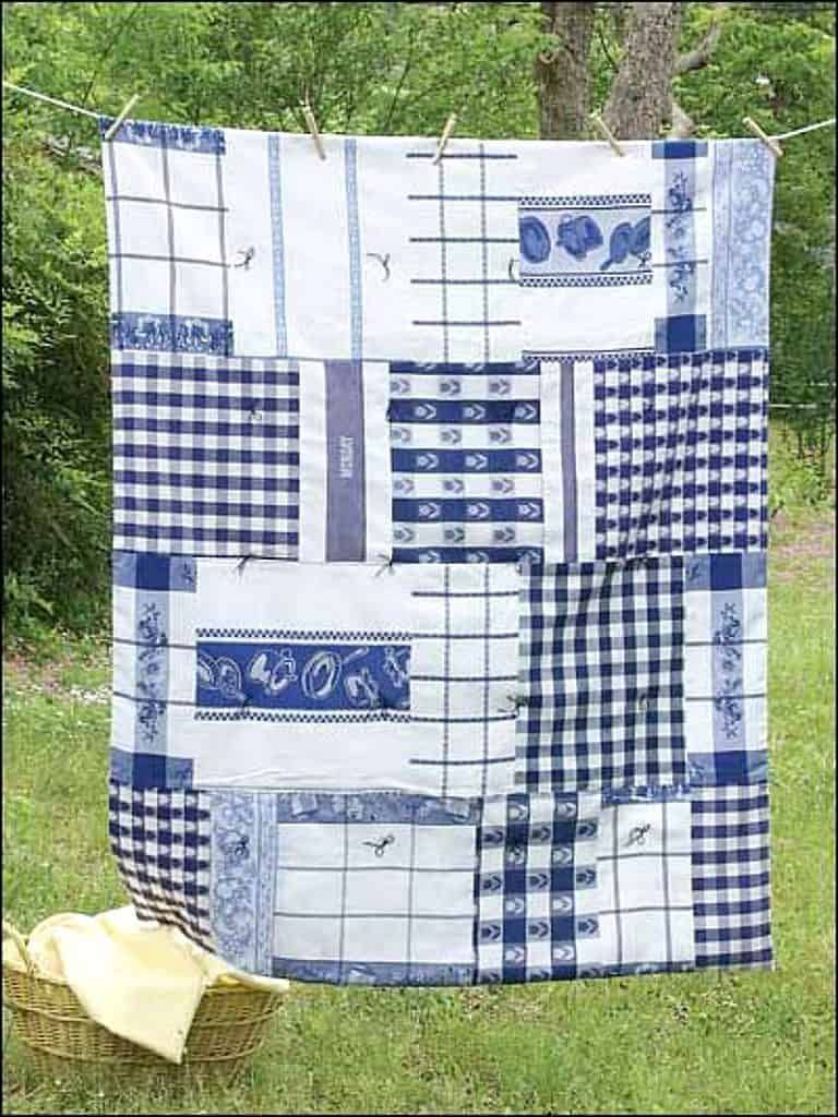 10 Fun, Easy Projects for Repurposing Dish Towels ~ Bluesky at Home