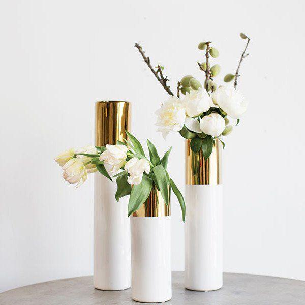 White Gold 20in Klein Vase Diy Weddings Pinterest White Gold