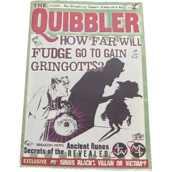 The Quibbler articles - Harry Potter Wiki ❤ liked on Polyvore featuring harry potter, books, fillers and hogwarts