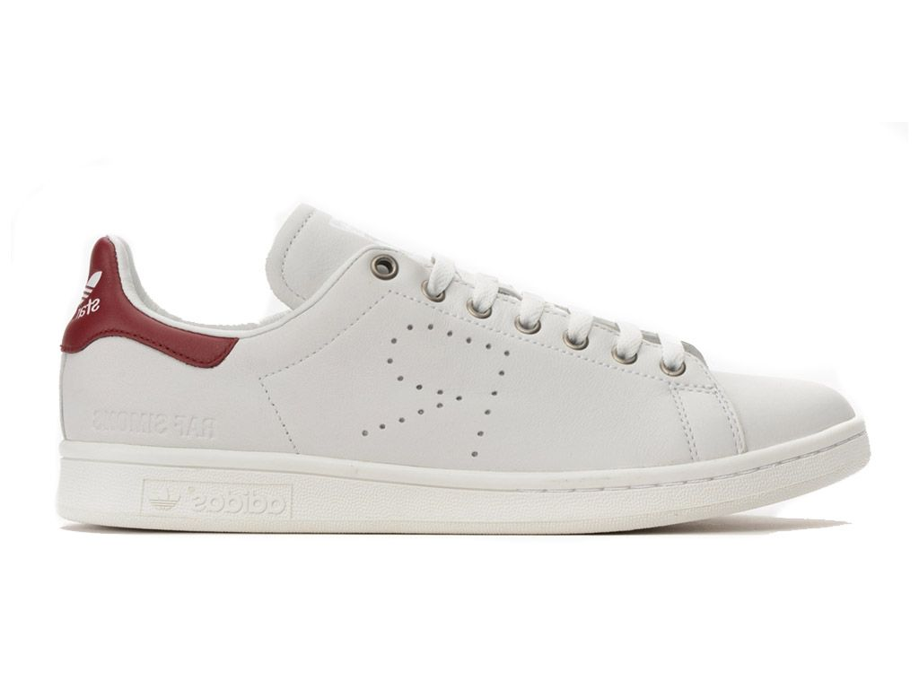 taille 40 bef1a 2f27f Adidas Stan Smith Blanc et Rouge Homme/Femme | www ...
