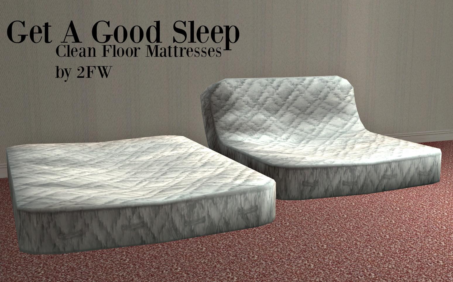 Get A Good Sleep Clean Floor Mattresses Mattress on