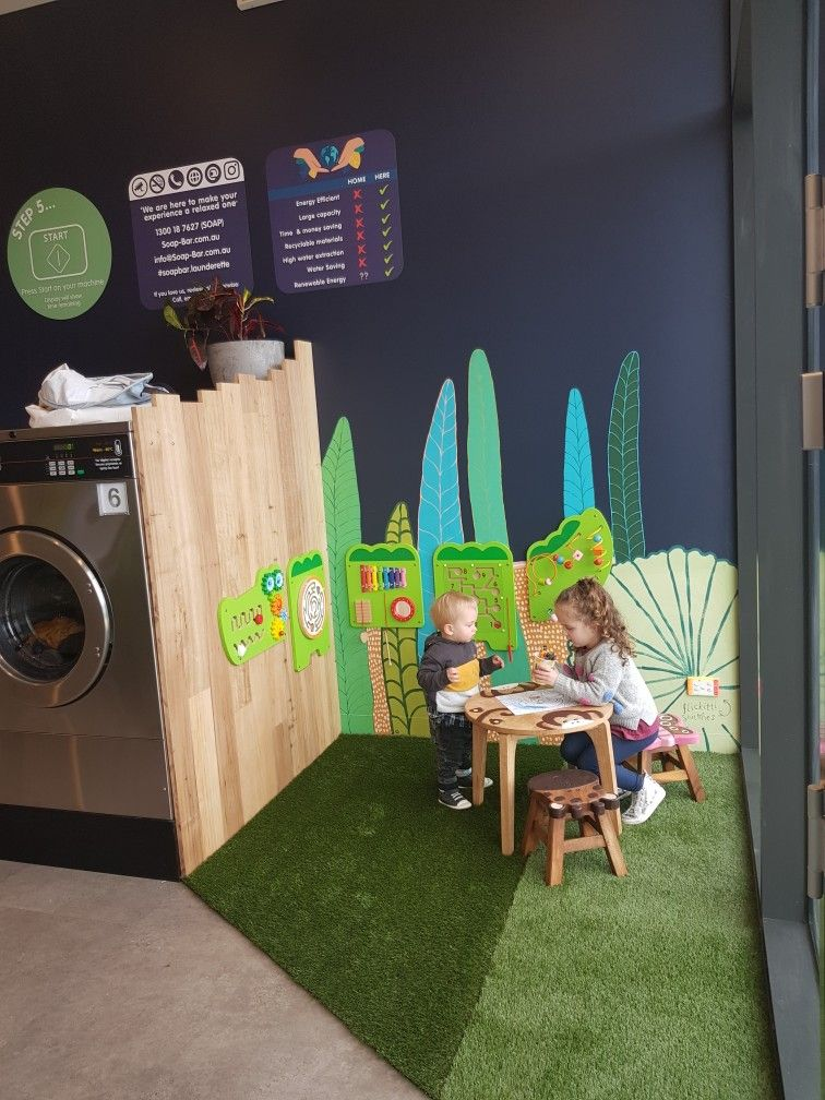 This Gorgeous Play Zone Features A Colourful Mural By Surf Coast