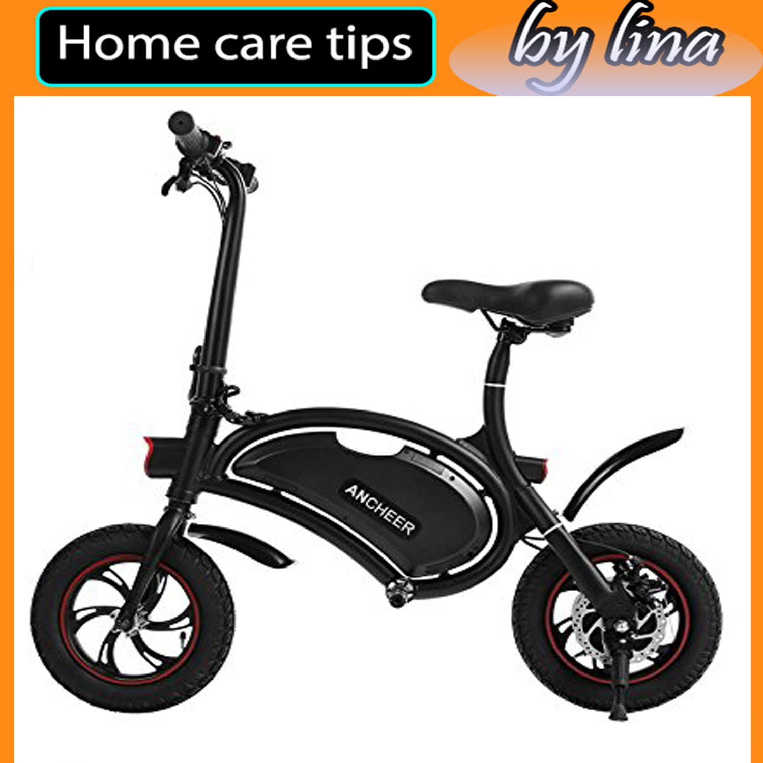 ANCHEER Folding Electric Bicycle EBike Scooter 350W
