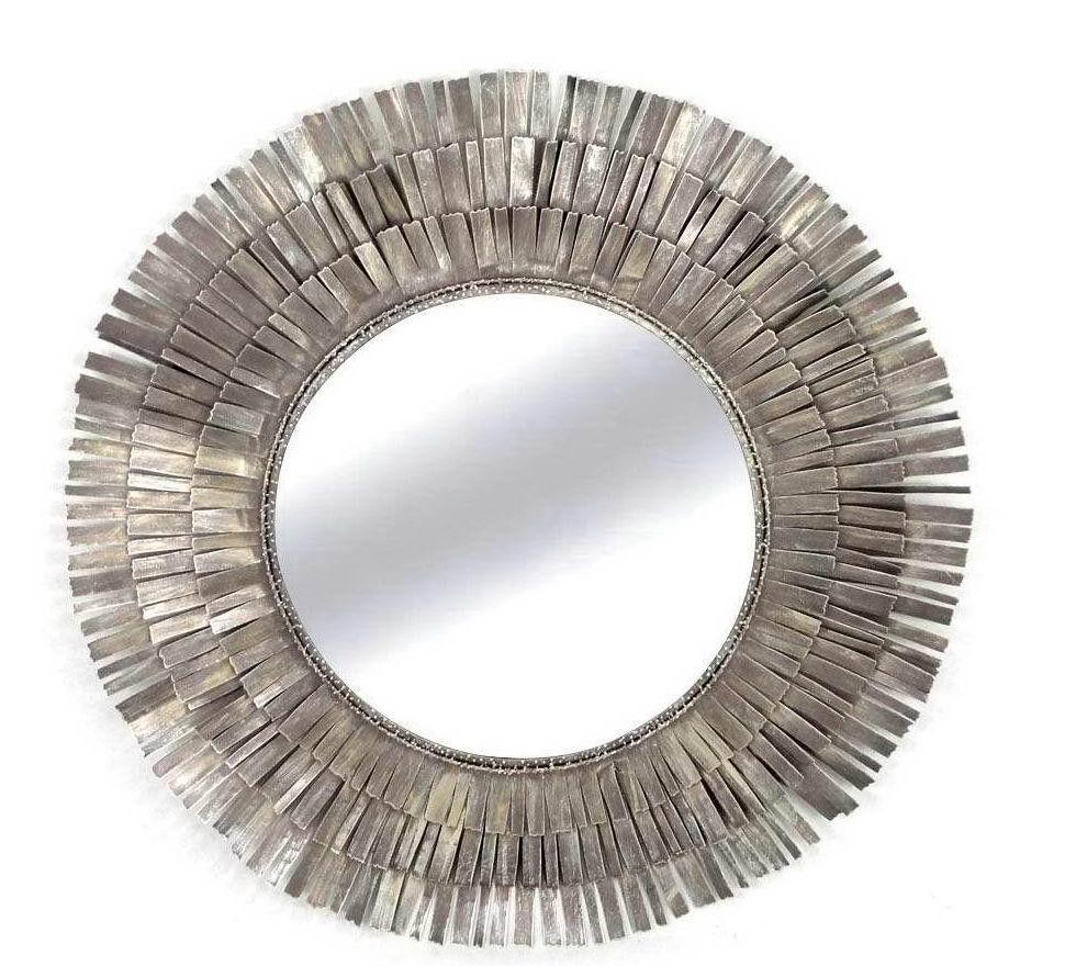 Wire capiz sunburst wall mirror - Denali Round Wall Mirror Rm 132653