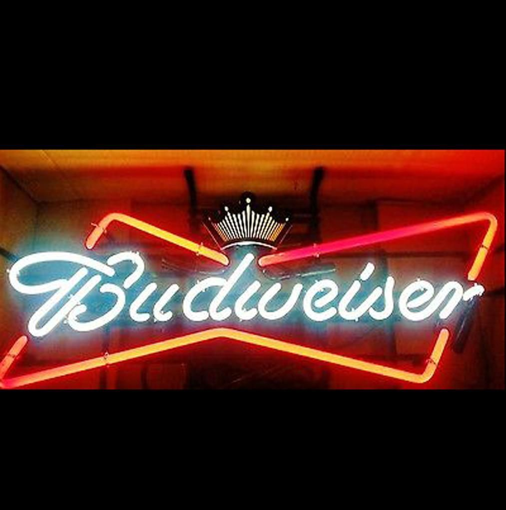 Budweiser Bow Tie Neon Beer Sign in 2019 | Neon beer signs