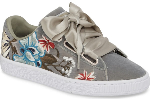 Puma Sneaker Embroidered GreyColorful In Basket Satin Hyper Heart 8wOXnkP0